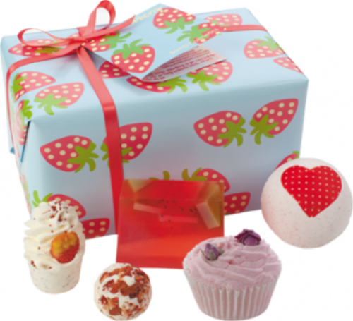 Strawberry Patch Bath Time Gift Set